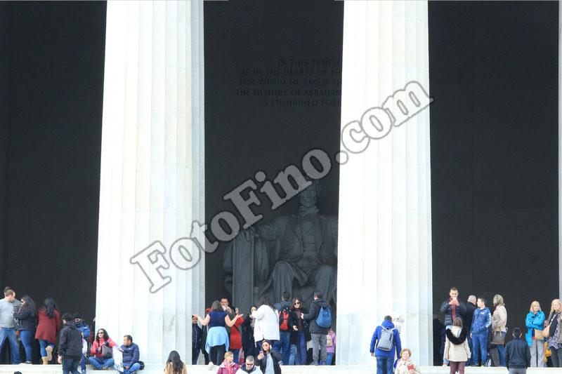 Outside Lincoln Memorial - FotoFino.com